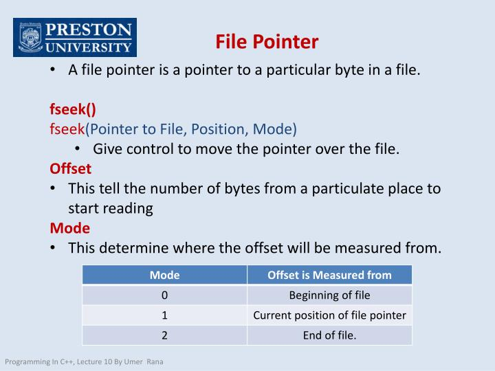 File Pointer