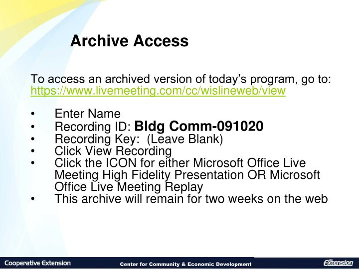 Archive Access