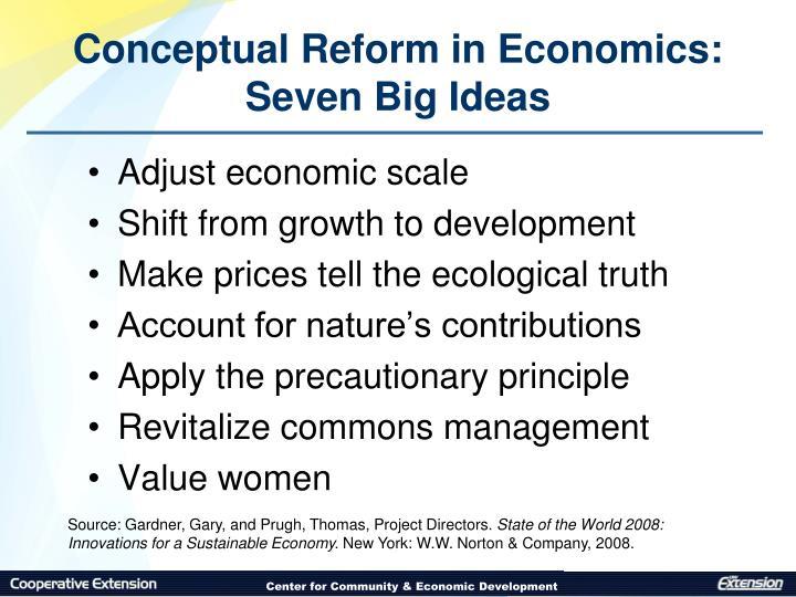 Conceptual Reform in Economics: