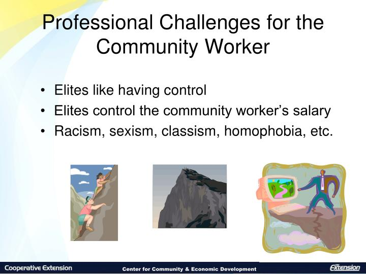 Professional Challenges for the Community Worker