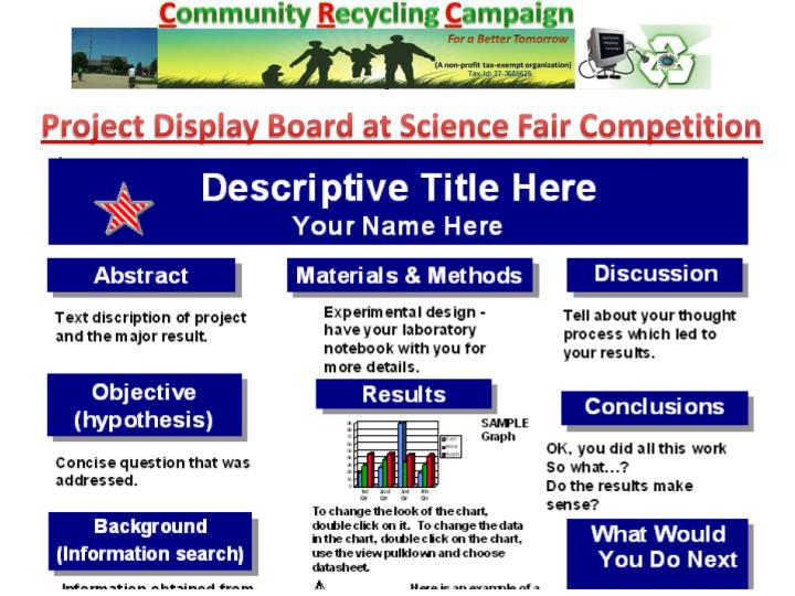 Project Display Board at Science Fair Competition