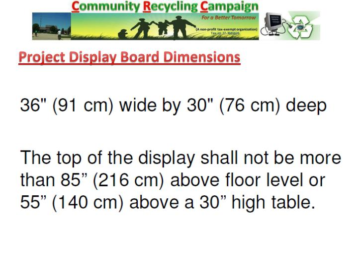 Project Display Board Dimensions