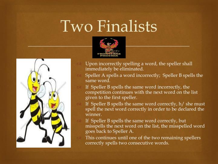 Two Finalists