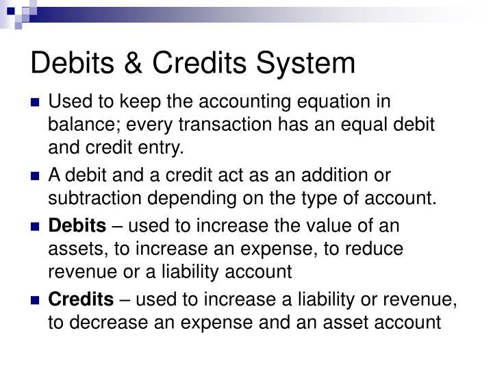 Debits & Credits System