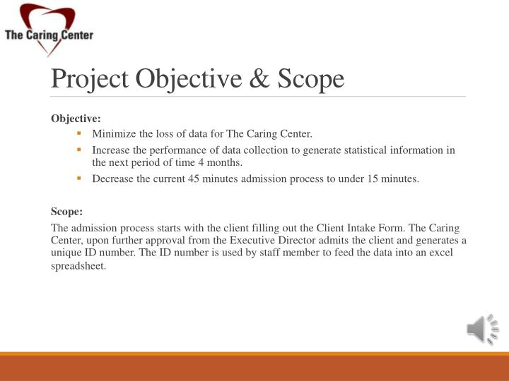 Project Objective & Scope
