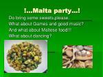 malta party