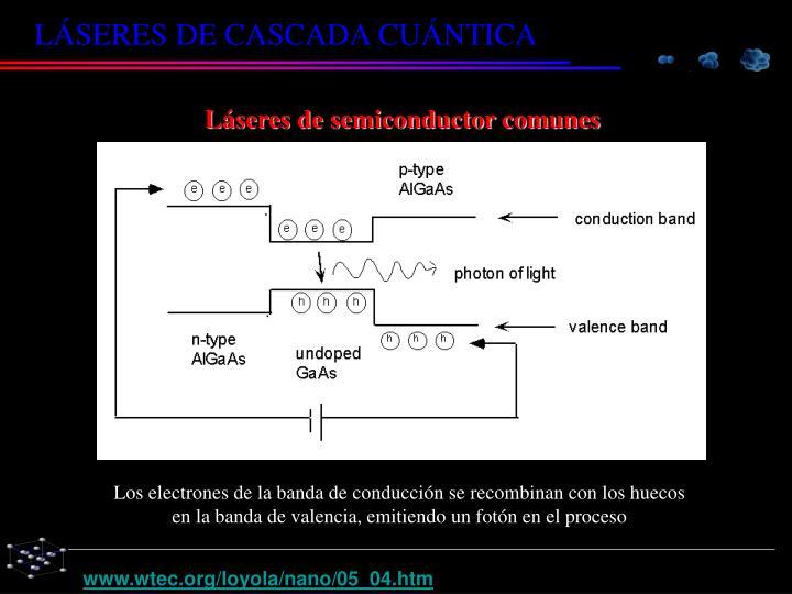 Láseres de semiconductor comunes