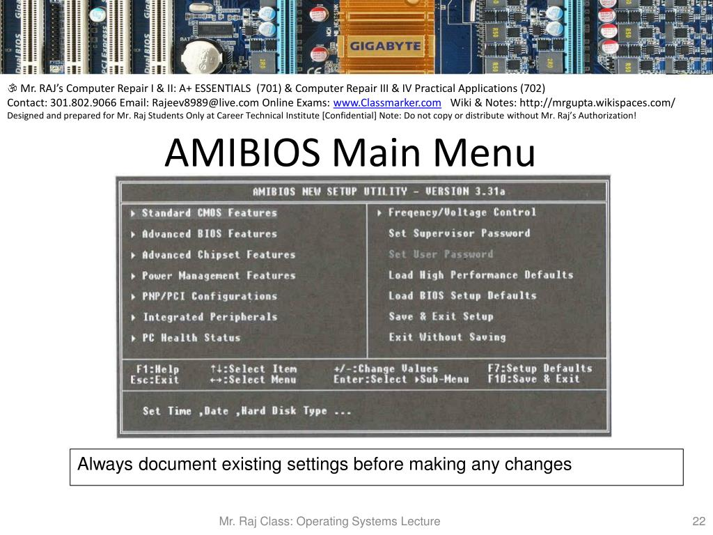 PPT - Unit 5: Lets discuss the BIOS, CMOS, POST, and Boot