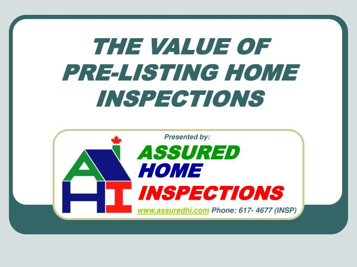 the value of pre listing home inspections n.