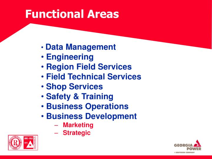 functional areas of management Functional managers oversee daily operations in a company's organizational unit typical duties of a functional manager include providing direction to staff, implementing company procedures, hiring and training employees, detecting areas that need improvement, and monitoring staff performance.