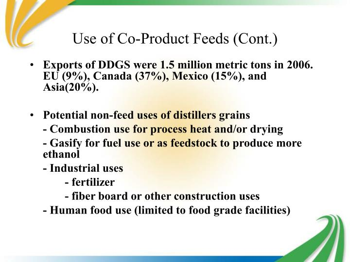 Use of Co-Product Feeds (Cont.)