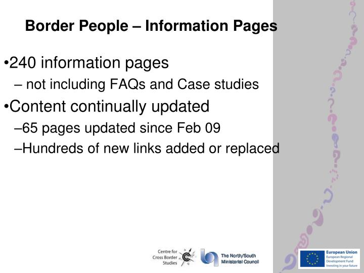 Border People – Information Pages