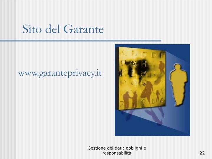www.garanteprivacy.it