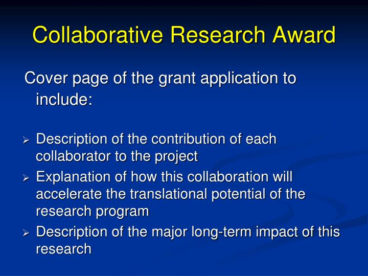 Collaborative Research Award