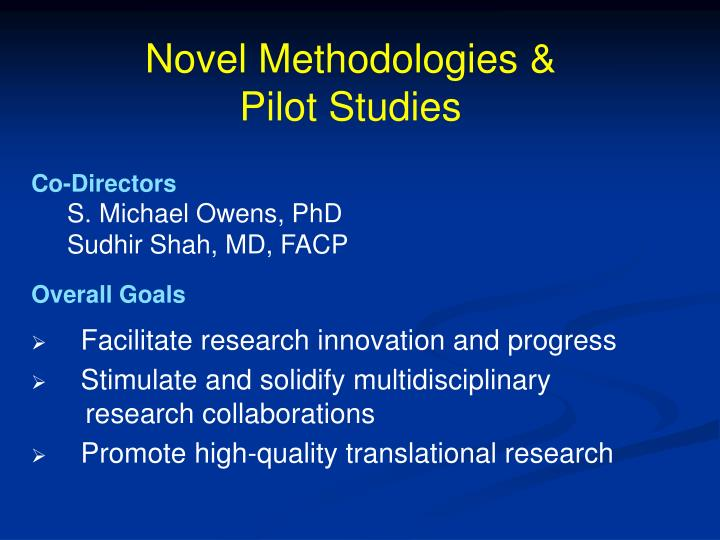 Novel Methodologies &