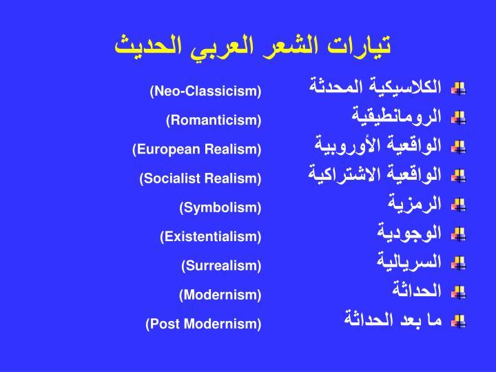 تيارات الشعر العربي الحديث