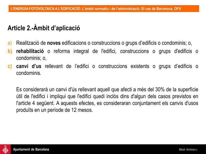Article 2.-Àmbit d'aplicació