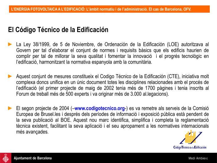 El Código Técnico de la Edificación
