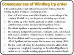 consequences of winding up order