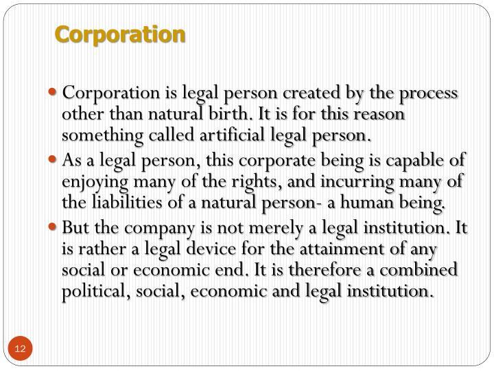 artificial legal person