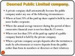 deemed public limited company