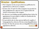 director qualifications