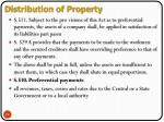 distribution of property