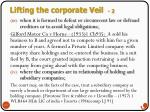 lifting the corporate veil 2