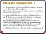 lifting the corporate veil 3