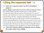 lifting the corporate veil 4