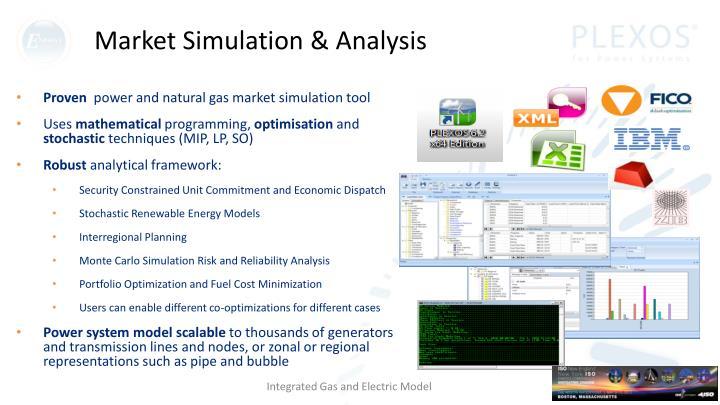 Market simulation analysis