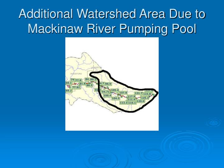 Additional Watershed Area Due to Mackinaw River Pumping Pool