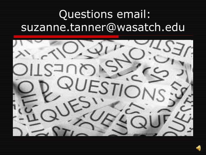 Questions email: