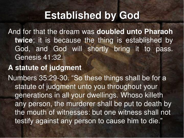 Established by God