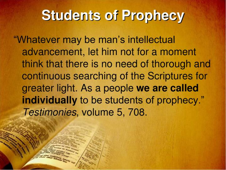 Students of prophecy
