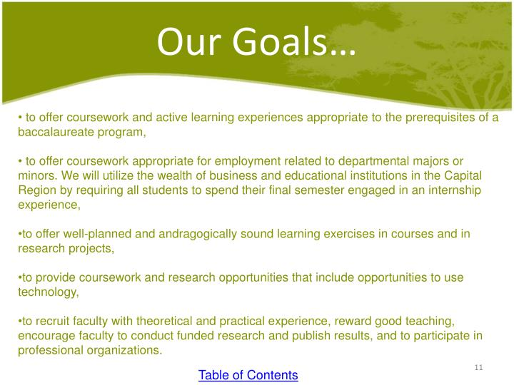 Our Goals…
