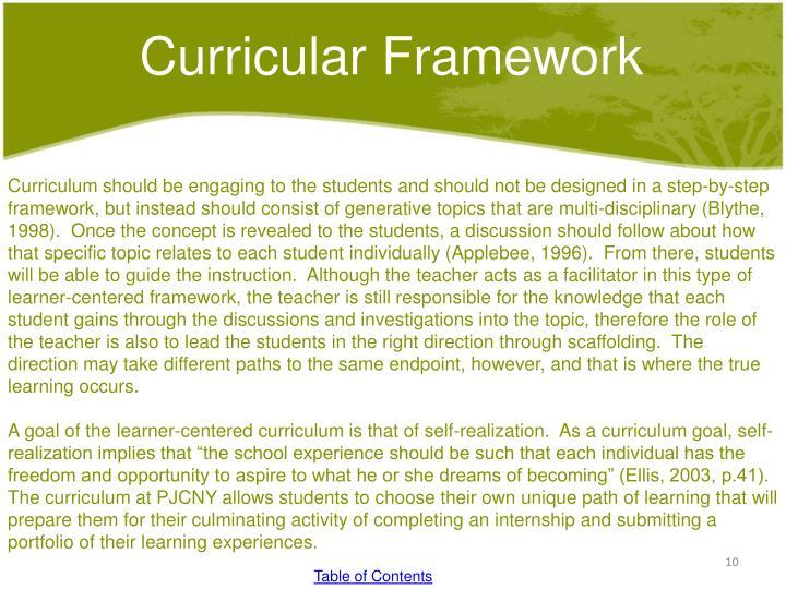 Curricular Framework