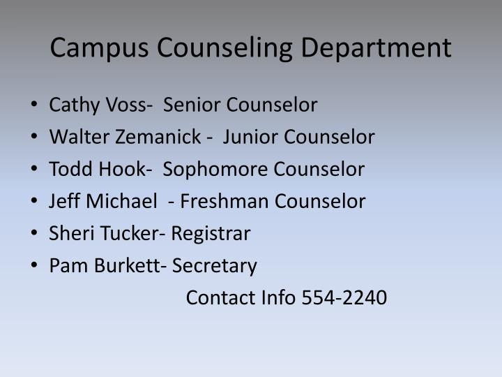 Campus Counseling Department