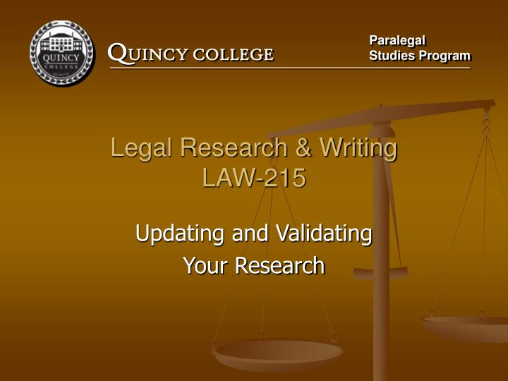 legal research writing law 215 n.
