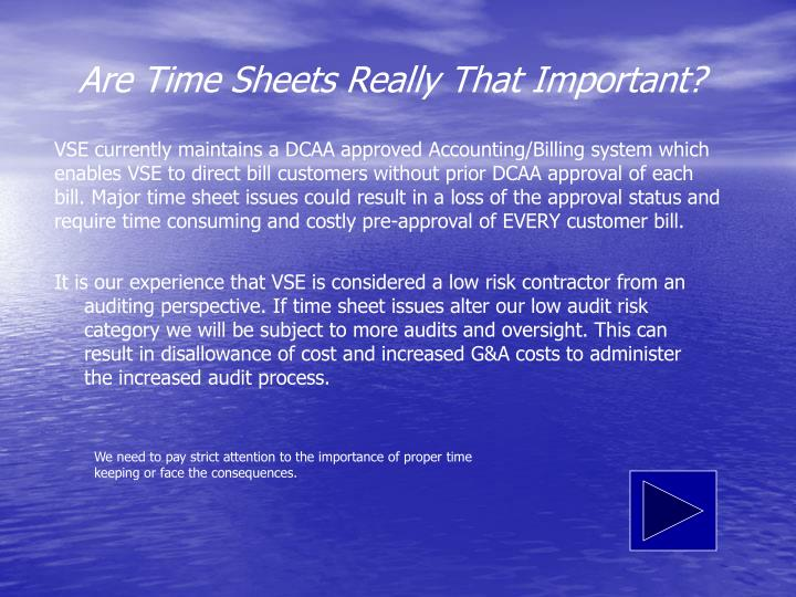 Are Time Sheets Really That Important?