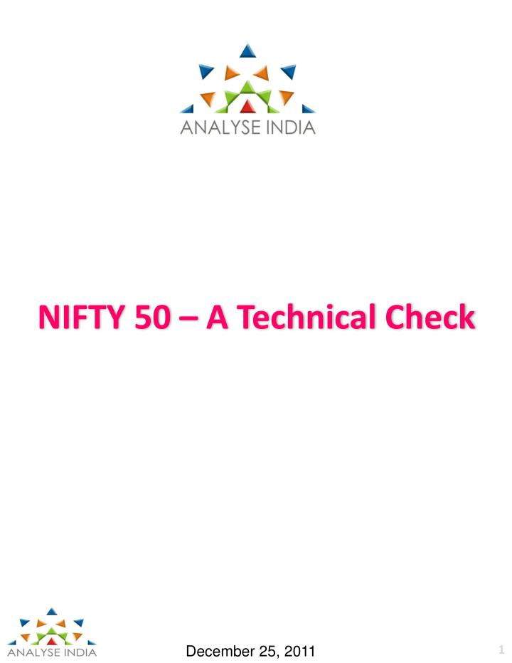 nifty 50 a t echnical check n.