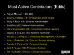 most active contributors edits