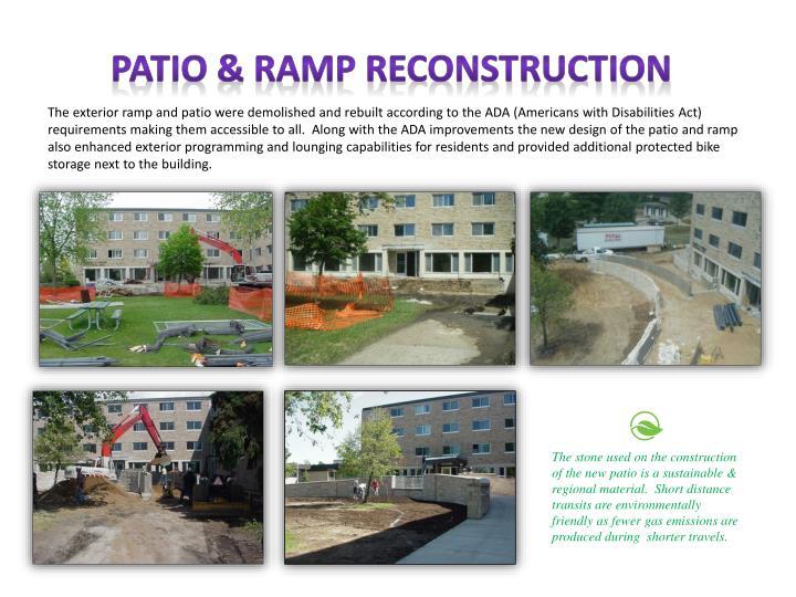 Patio & ramp reconstruction