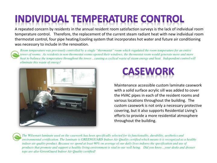 Individual Temperature Control
