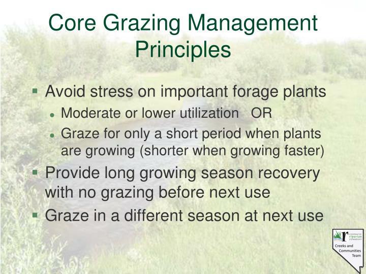 Core Grazing Management Principles