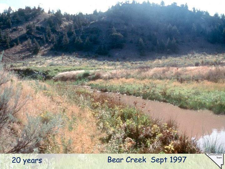 Bear Creek  Sept 1997