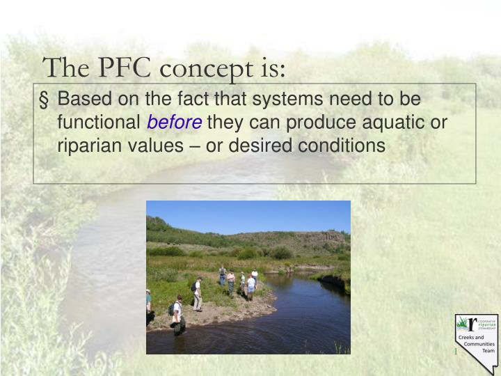 The pfc concept is