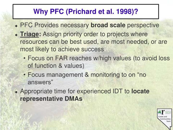 Why PFC (Prichard et al. 1998)?