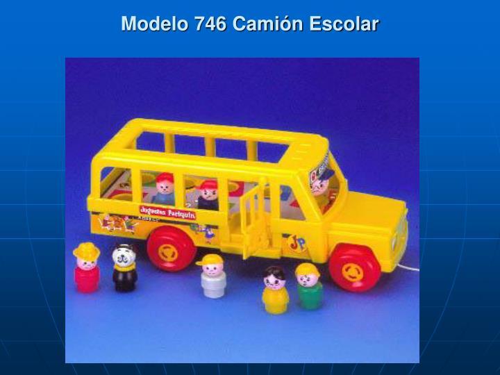 Modelo 746 Camión Escolar
