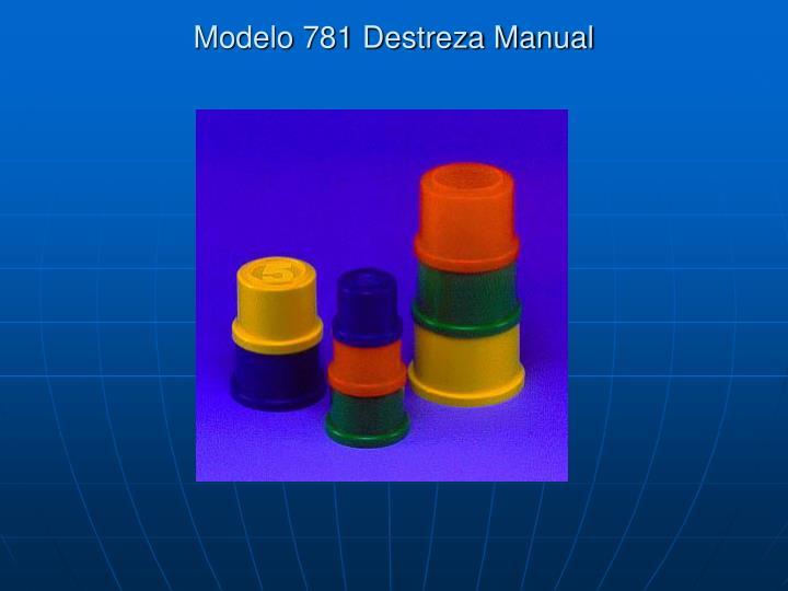 Modelo 781 Destreza Manual